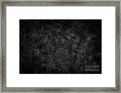 Abstract Industrial And Technology Background Framed Print