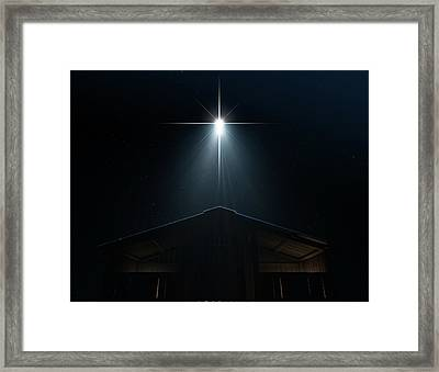 Abstract Nativity Scene Framed Print by Allan Swart