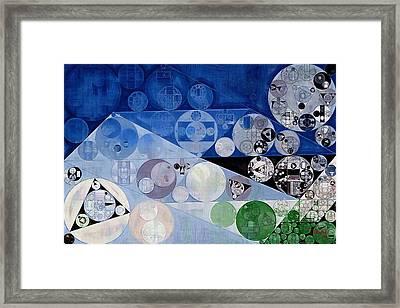 Abstract Painting - Bermuda Grey Framed Print by Vitaliy Gladkiy