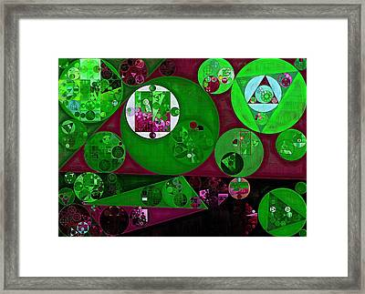 Abstract Painting - Lincoln Green Framed Print by Vitaliy Gladkiy