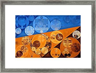 Abstract Painting - Lochmara Framed Print