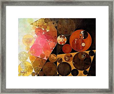 Abstract Painting - New Tan Framed Print by Vitaliy Gladkiy