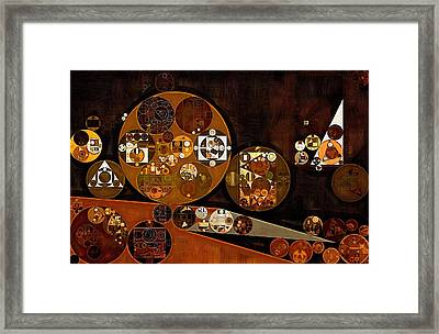 Abstract Painting - Attack Framed Print