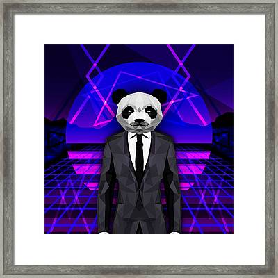 Abstract Panda Framed Print by Gallini Design