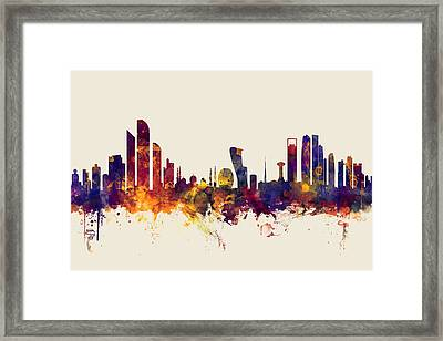 Abu Dhabi Skyline Framed Print by Michael Tompsett
