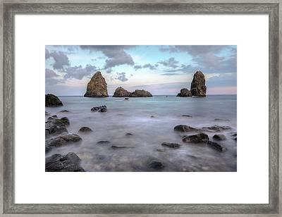 Aci Trezza - Sicily Framed Print by Joana Kruse