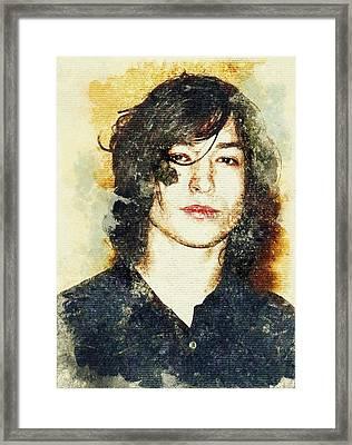 Actor And Musician Ezra Miller Framed Print