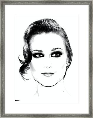 Actress And Singer Evan Rachel Wood  Framed Print