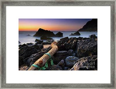 Adraga Beach Framed Print