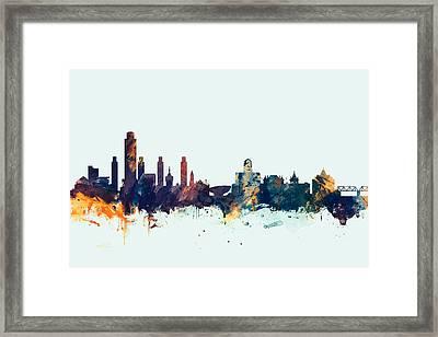 Albany New York Skyline Framed Print by Michael Tompsett