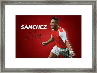 Alexis Sanchez Framed Print