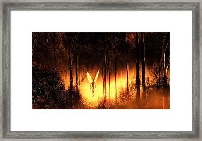Alien Angel By Raphael Terra Framed Print