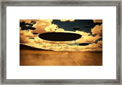 Alien Invasion By Raphael Terra Framed Print
