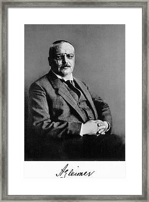 Alois Alzheimer, German Neuropathologist Framed Print by Science Source