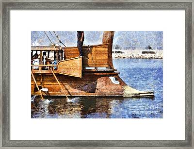 An Ancient Trireme Underway Framed Print