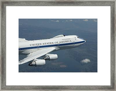 An E-4b National Airborne Operations Framed Print by HIGH-G Productions