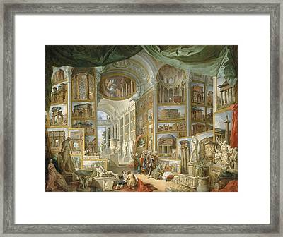 Ancient Rome Framed Print by Giovanni Paolo Panini