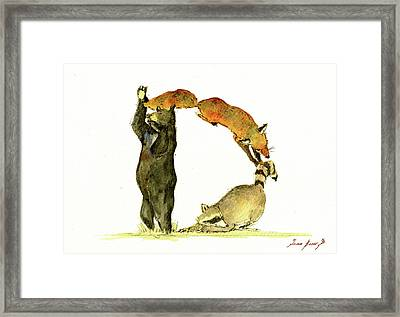 Animal Letter Framed Print