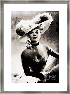 Ann Sheridan, Vintage Hollywood Actress Framed Print by John Springfield