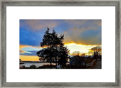 Annisquam Winter Sunset Framed Print