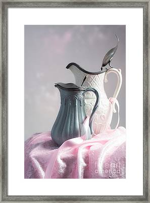 Antique Jugs Framed Print by Amanda Elwell