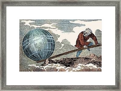 Archimedes, Ancient Greek Polymath Framed Print by Science Source