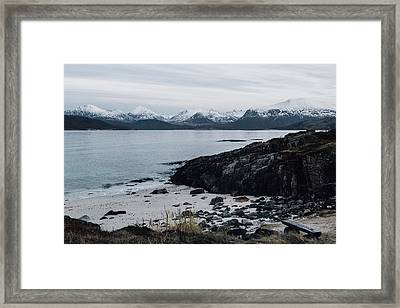 Arctic Landscape In Northern Norway, Tromso Region Framed Print