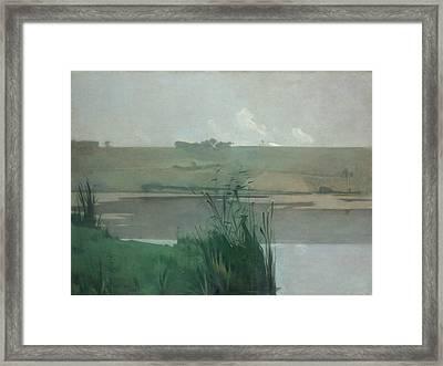 Arques-la-bataille Framed Print by John Henry Twachtman