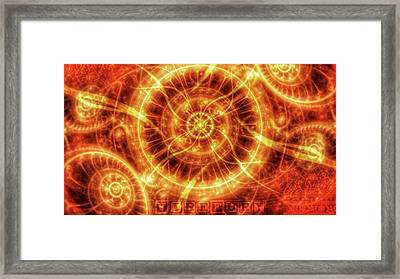 #art #abstract #digitalart #fractals Framed Print by Michal Dunaj