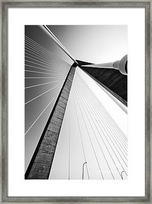 Arthur Ravenel Jr Bridge Charleston Sc Cooper River Framed Print by Dustin K Ryan