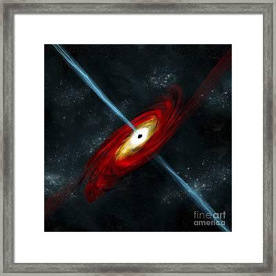 Artists Depiction Of A Black Hole Framed Print