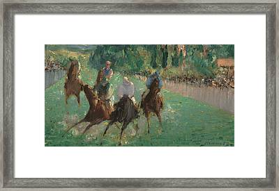 At The Races Framed Print by Edouard Manet