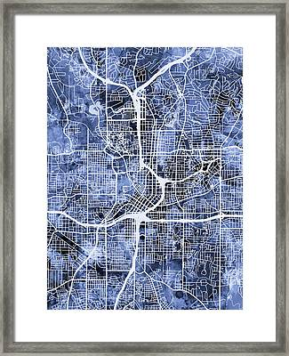 Atlanta Georgia City Map Framed Print