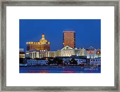 Atlantic City Skyline Framed Print by John Greim