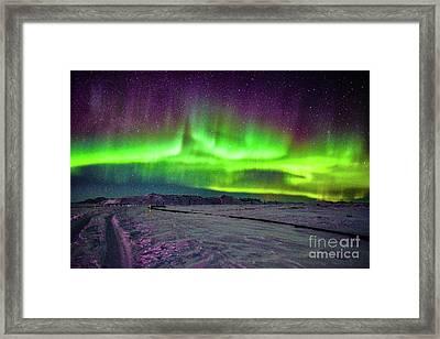 Aurora Borealis In Iceland Framed Print