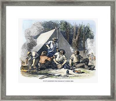 Australian Gold Rush, 1851 Framed Print by Granger