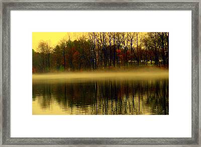 Autumn Lake Framed Print by Aron Chervin