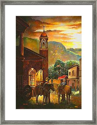 Back To The Herd Framed Print by Donn Kay