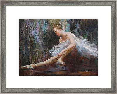 Ballerina Framed Print by Kelvin  Lei