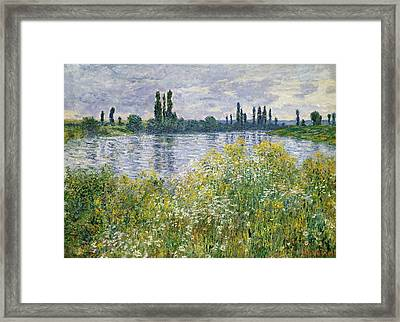 Banks Of The Seine, Vetheuil Framed Print