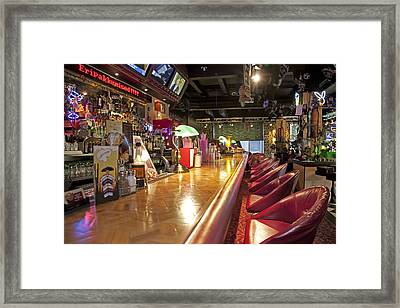 Bar At An American Style Diner Framed Print