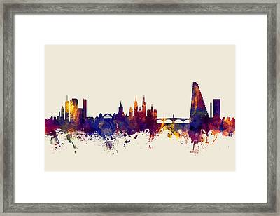 Basel Switzerland Skyline Framed Print by Michael Tompsett