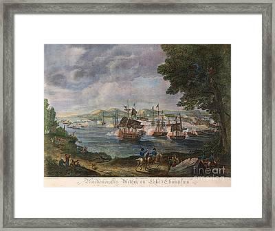 Battle Of Lake Champlain Framed Print