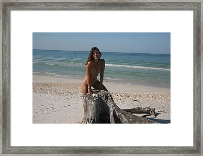 Framed Print featuring the photograph Beach Girl by Lucky Cole