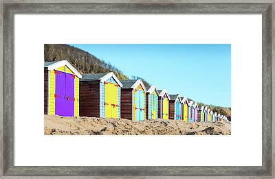 Beach Huts Framed Print