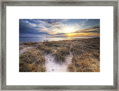 Beach In Frankfort Framed Print by Twenty Two North Photography