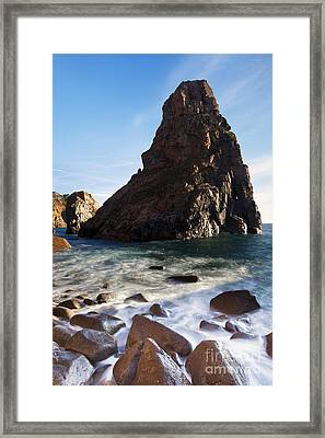 Beach In Sintra Natural Park Framed Print by Andre Goncalves