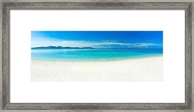 Beach Panorama Framed Print by MotHaiBaPhoto Prints