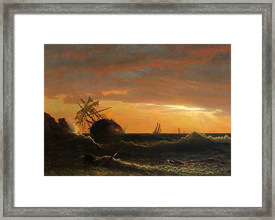 Beached Ship Framed Print