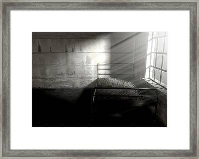 Bed Of Nails In A Room Framed Print by Allan Swart